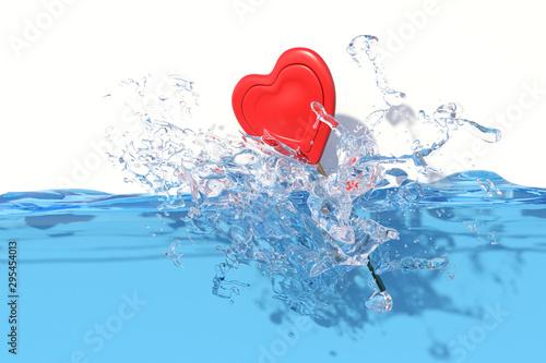 Fotografie, Obraz  acqua bottiglia rosa rossa cassa mare estate sole  macchina fotograficaTRASOARE