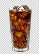 Leinwanddruck Bild - Cola in tall or high glass with ice isolated on isolated background