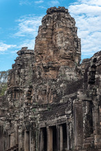 Tower View Of Bayon Temple, Siem Reap, Cambodia