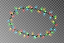 Christmas Lights Oval Border V...