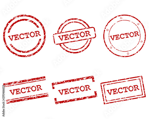 Vector Stempel Canvas-taulu