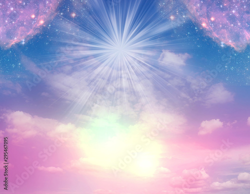 abstract angel spiritual mystic mystical magic magical religious background with Fototapet