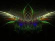 canvas print picture - Imaginatory fractal background Image