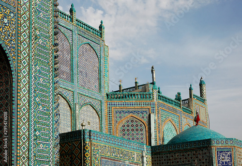Fotografia, Obraz The Blue Mosque in Mazar-i-Sharif, Balkh Province in Afghanistan
