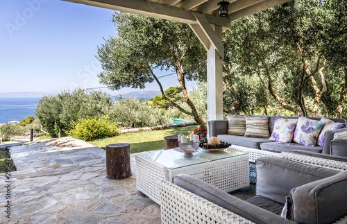 Fotografia Luxury private villa terrace