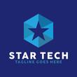 Star Tech Logo Design Inspiration For Business And Company