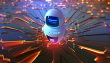AI And Global Data. Robot, Cha...