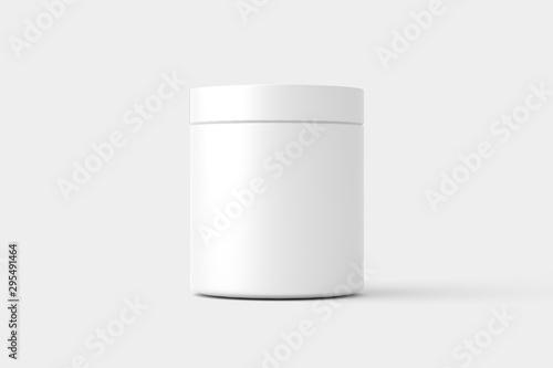 Supplement Bottle Jar Packaging White Mockup Tableau sur Toile