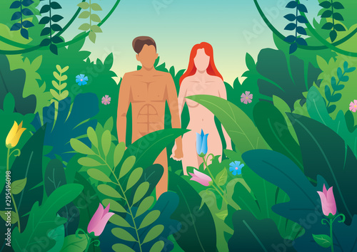 Fototapeta Adam and Eve
