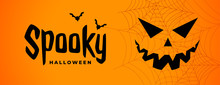 Spooky Halloween Scary Banner ...