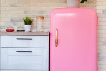 Retro Style Pink Fridge In Vin...