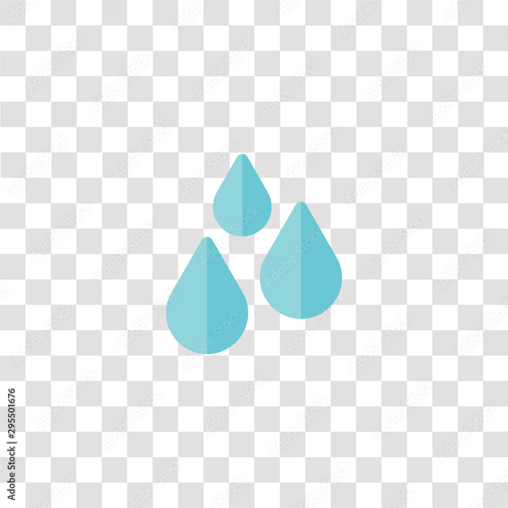 Fototapety, obrazy: drops icon sign and symbol. drops color icon for website design and mobile app development. Simple Element from weather collection isolated on black background.