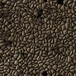 canvas print picture - cobble stones irregular mosaic pattern texture seamless background - pavement dark brown natural colored