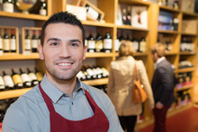 Cheerful Seller Man In A Wine ...