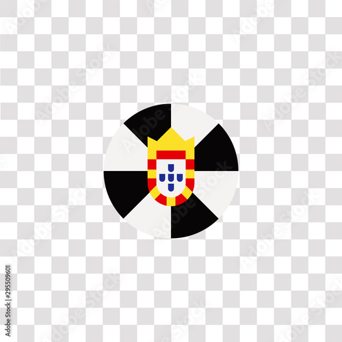 ceuta icon sign and symbol. ceuta color icon for website design and mobile app development. Simple Element from countrys flags collection isolated on black background.