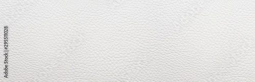 White leather background. Panorama. - 295511028
