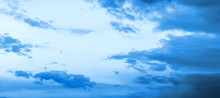 Blue Hour Sky Clouds Backgroun...