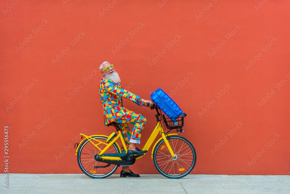 Fototapety, obrazy: Hispter stylish senior man