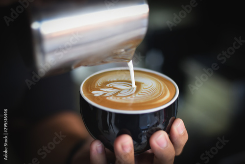 Photographie coffee in cafe