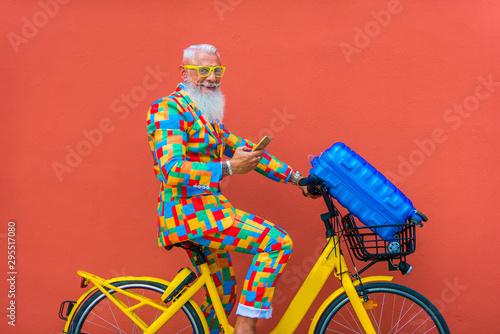 Hispter stylish senior man Wallpaper Mural
