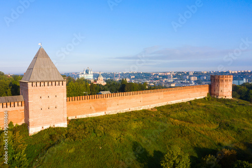 Towers of Smolensk fortress wall Fotobehang