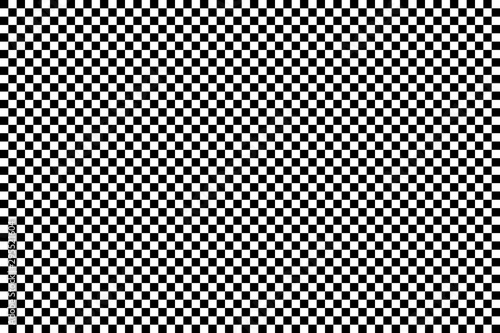 Obraz na plátně  A simple checkerboard pattern, made of alternating black and white squares