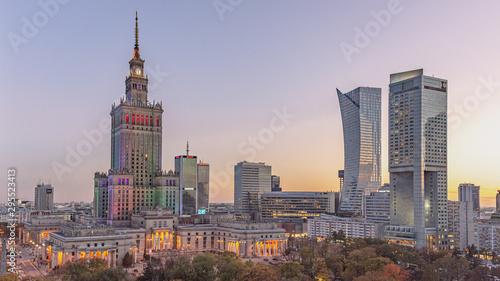 Fototapeta Centrum Warszawy, stolica Polski obraz