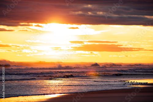 Intense Bright Beach Sunset