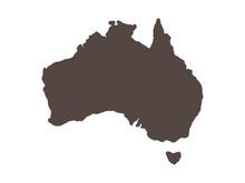 Australia Map Vector Illustrat...