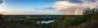 canvas print picture - Hamburg von oben im Panorama mit Regenbogen
