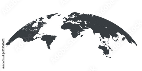 Photo World map globe isolated - stock vector
