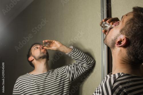 Photo male alcoholism