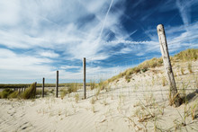 Environment Protection - Ocean Dunes With A Fence