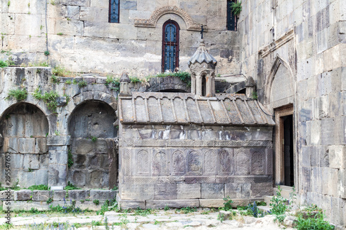 Detail of stone Tatev monastery, Armenia