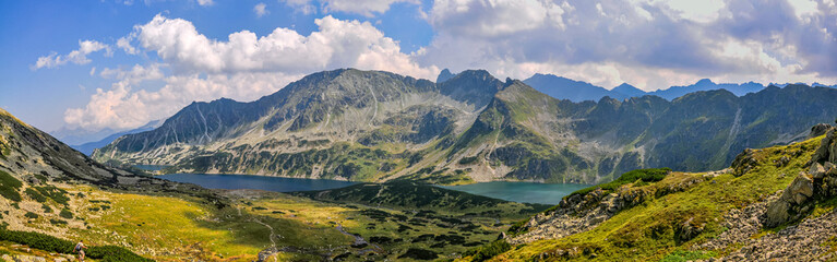 Panorama of Five Lake Valley in Tatras