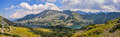 Fototapeta Panorama of Five Lake Valley in Tatras obraz