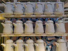 Row Of Clay Pots