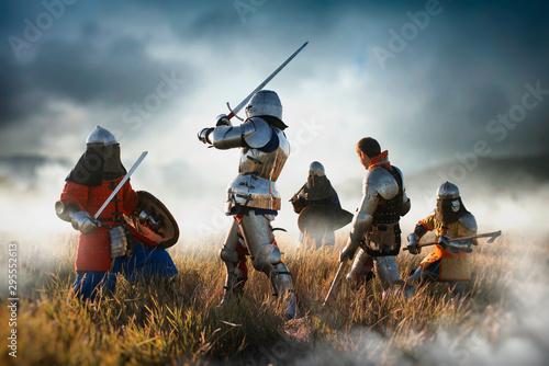 Naklejki historyczne medieval-knights-fight-great-combat