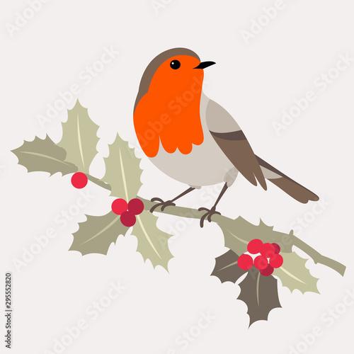 Stampa su Tela Christmas bird