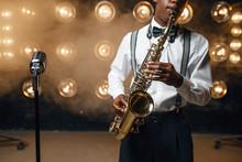 Black Jazz Performer Plays The...