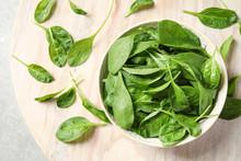 Bowl Of Fresh Green Healthy Sp...