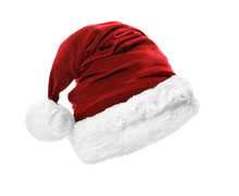 Santa Claus Red Hat Isolated On White