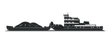 Tugboat Pushing Barges