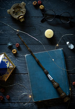 Magic Wand And Spell Books On ...