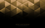 Abstract gold triangle shapes and luxury pattern background
