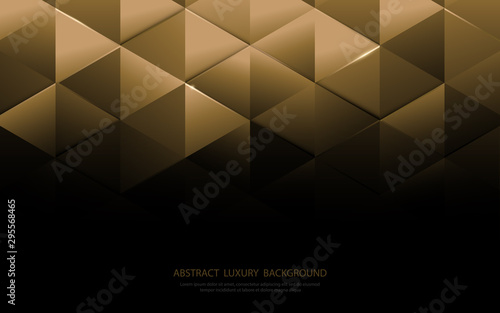 Abstract gold triangle shapes and luxury pattern background Canvas Print