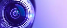 Banner. Close-up Camera Lens W...