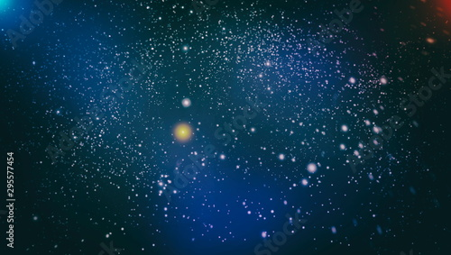 Deep space. High definition star field background . Starry outer space background texture . Colorful Starry Night Sky Outer Space background - 295577454