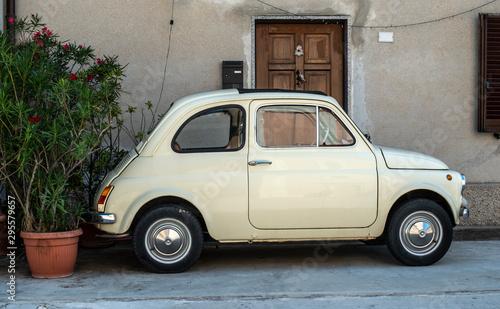 Small vintage italian car Canvas Print