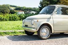 Vintage Beige Color Car. Small...